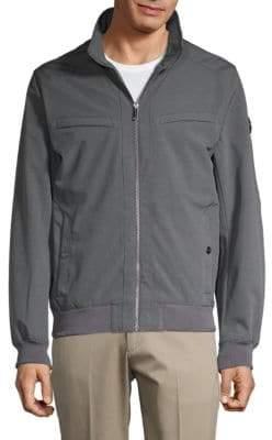 Michael Kors Mockneck Ribbed Jacket