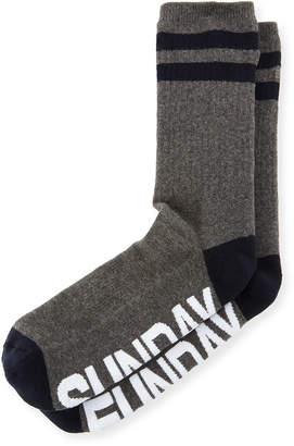 Neiman Marcus Sockart Sunday Funday Typographic Socks