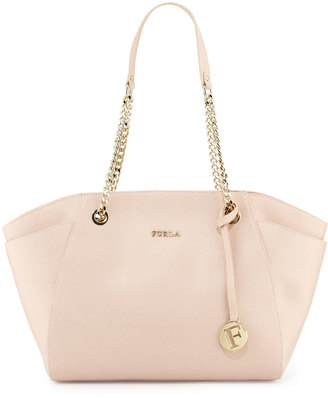 Furla Julia Medium Leather Tote Bag, Magnolia $283 thestylecure.com