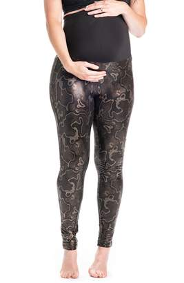PREGGO LEGGINGS Boa Print Maternity Leggings