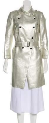 Robert Rodriguez Metallic Knee-Length Coat