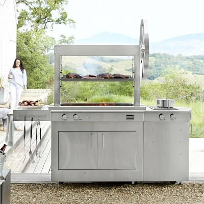 Kalamazoo Gaucho Wood-Fired Freestanding Grill with Side Burner