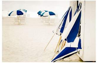 Pottery Barn Blue and White Beach Umbrellas by Cindy Taylor