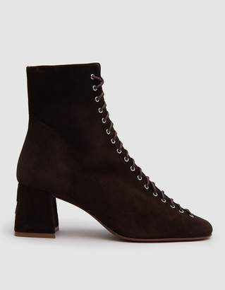 By Far Shoes Becca Boot in Brown Suede