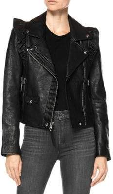 Paige Annika Leather Moto Jacket