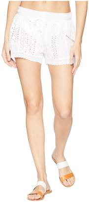 Polo Ralph Lauren Eyelet Patchwork Cover-Up Shorts Women's Swimwear