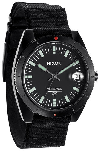Nixon 'The Rover' Canvas Strap Watch, 42mm