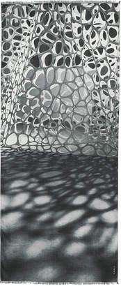 Akris Nano-Embroidered Cashmere-Silk Scarf