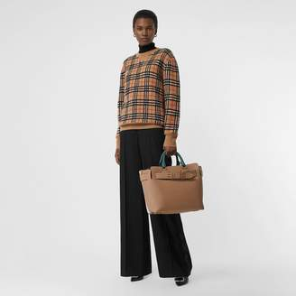 Burberry Vintage Check Cashmere Jacquard Sweater