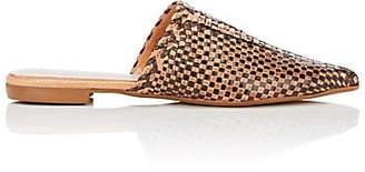 Barneys New York WOMEN'S WOVEN LEATHER MULES SIZE 10