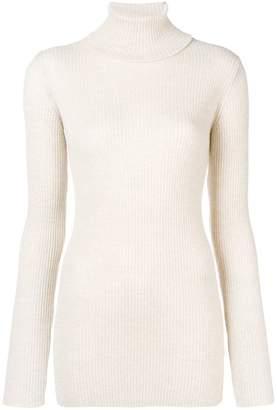 Iris von Arnim ribbed knit roll neck sweater