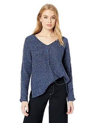 Lucky Brand Women's Multi Color V Neck Sweater