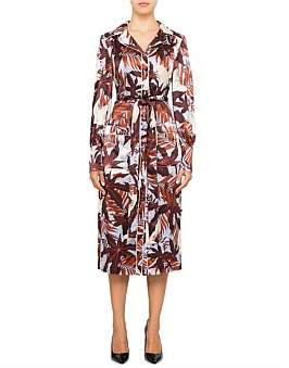 Erdem Quenna L/S Pajama Shirt Dress