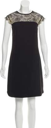 Ted Baker Lace-Accented Raw-Edge-Trimmed Dress w/ Tags