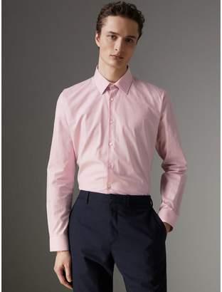 Burberry Modern Fit Check Cotton Shirt