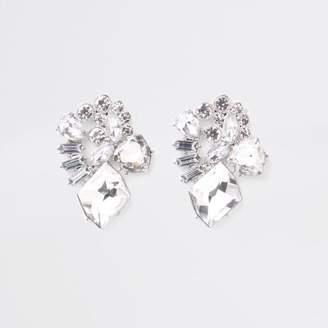 River Island Womens Silver tone jewel drop earrings
