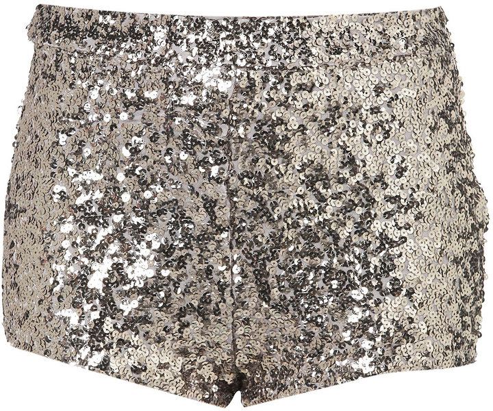 Topshop Silver Sequin Knickers