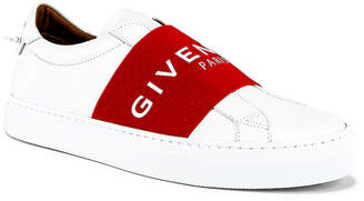 Givenchy Urban Street Elastic Sneakers in White & Red | FWRD