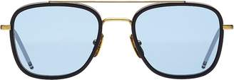 Thom Browne Men's Square Aviator Sunglasses