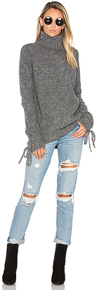 Lovers + Friends Lovers + Friends x REVOLVE Kate Sweater in Gray $168 thestylecure.com