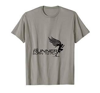 "Runners T-shirt"" Born to fly""running"