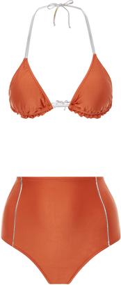 Adriana Degreas high waisted triangle bikini set