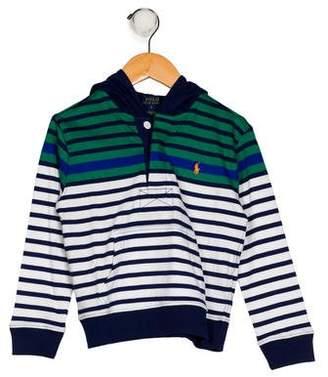 Polo Ralph Lauren Boys' Stripe Hooded Shirt
