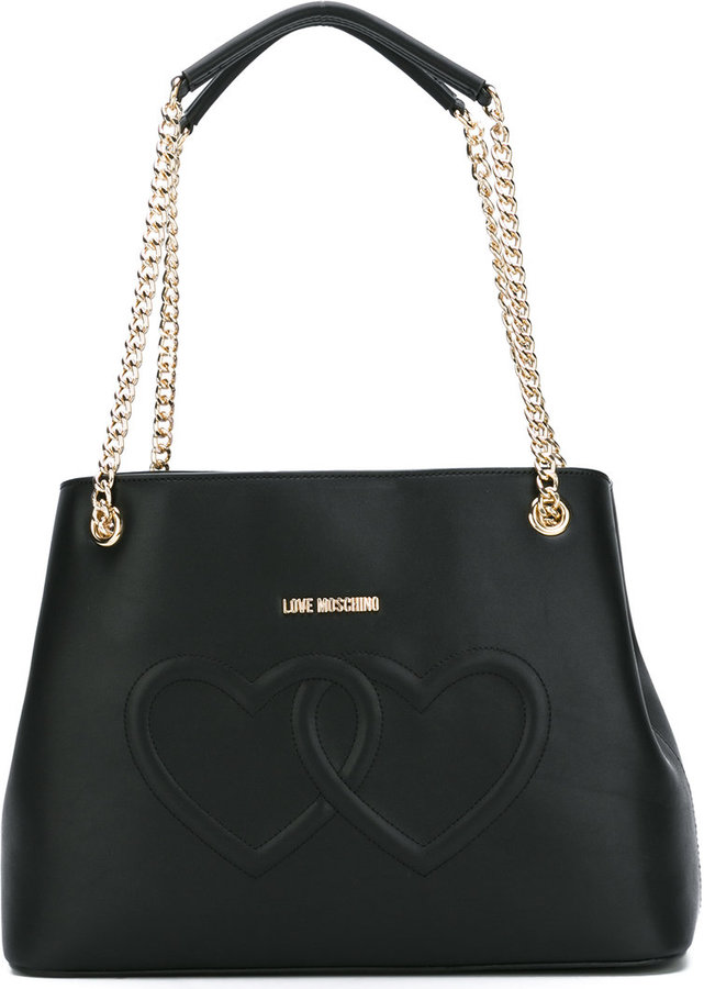 Love MoschinoLove Moschino embossed hearts shoulder bag