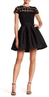 Just Me Crochet Insert Flare Skirt Dress