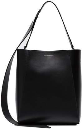 Calvin Klein buck stripe leather Bucket Bag