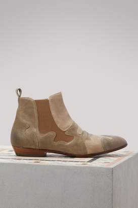 Sartore Camo flat ankle boots