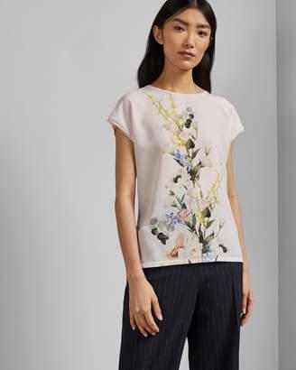 Ted Baker SELMAA Elegant woven front T-shirt