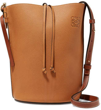 Loewe Gate Textured-leather Bucket Bag - Tan