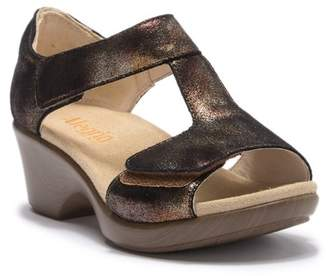 Alegria by PG Lite Bronze Suede Wedge Sandal