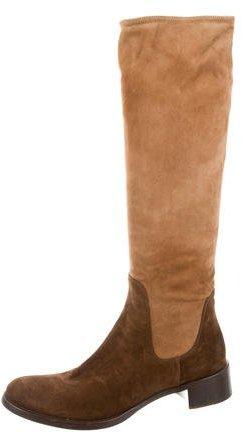 pradaPrada Suede Riding Boots