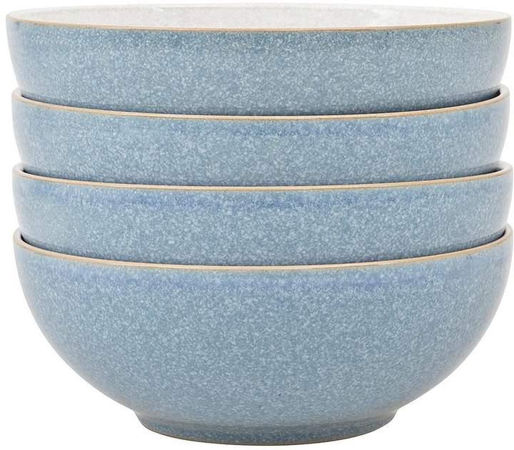 Elements 4-piece Cereal Bowl Set – Blue