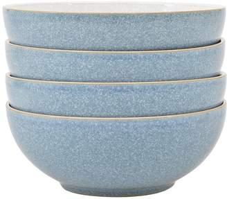 Denby Elements 4-piece Cereal Bowl Set – Blue