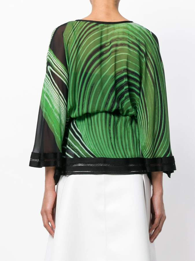 Roberto Cavalli printed kaftan blouse