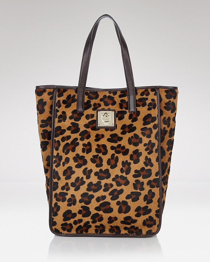 DKNY Leopard Print Top-Handle Tote