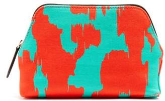 Diane von Furstenberg Ebrba Print Canvas Cosmetics Case - Womens - Green Multi