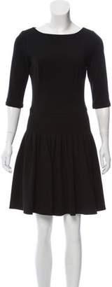 Issa Pleated Mini Knit Dress