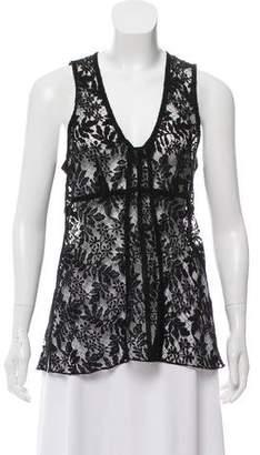 Louis Vuitton Lace Sleeveless Top