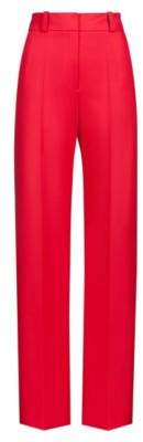 HUGO Boss High-waisted pants in stretch crepe wide leg 2 Open Pink