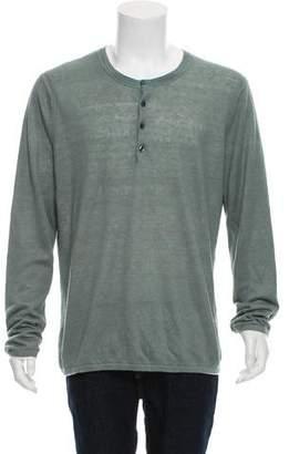 Vince Linen Henley Sweater