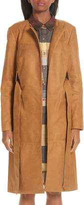 PARTOW Brushed Calfskin Leather Coat