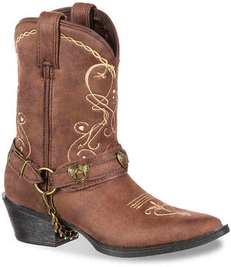 Durango Lil Crush Heartfelt Western Toddler & Youth Cowboy Boot - Girl's