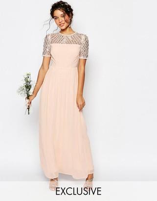 Maya Chiffon Maxi Dress with Embellishment $114 thestylecure.com