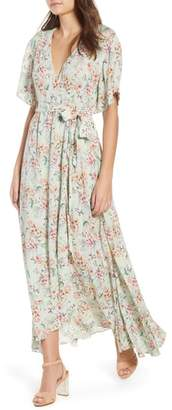 Raga Secret Escape Floral Faux Wrap Maxi Dress