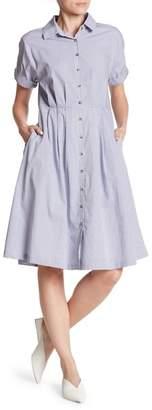 Mo:Vint Gingham Short Sleeve Button Down Dress