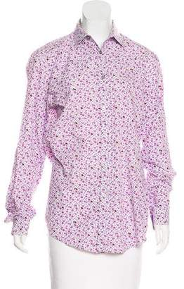 Paul Smith Floral Print Button-Up Top